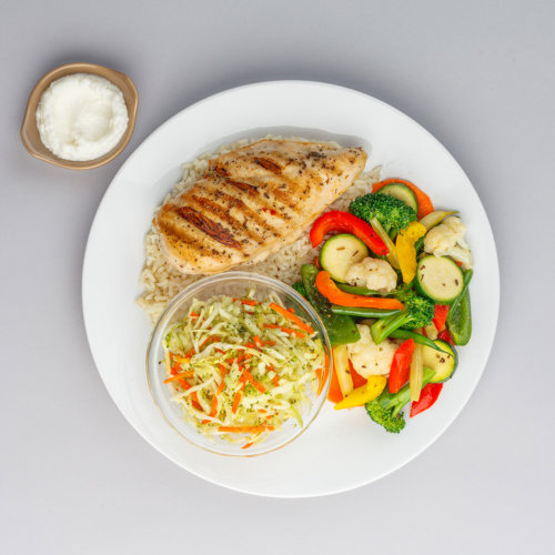 Chicken Plate Vegetable Food Photography