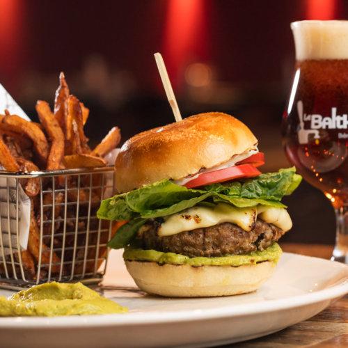 beef burger lettuce fries y foodivine photo studio