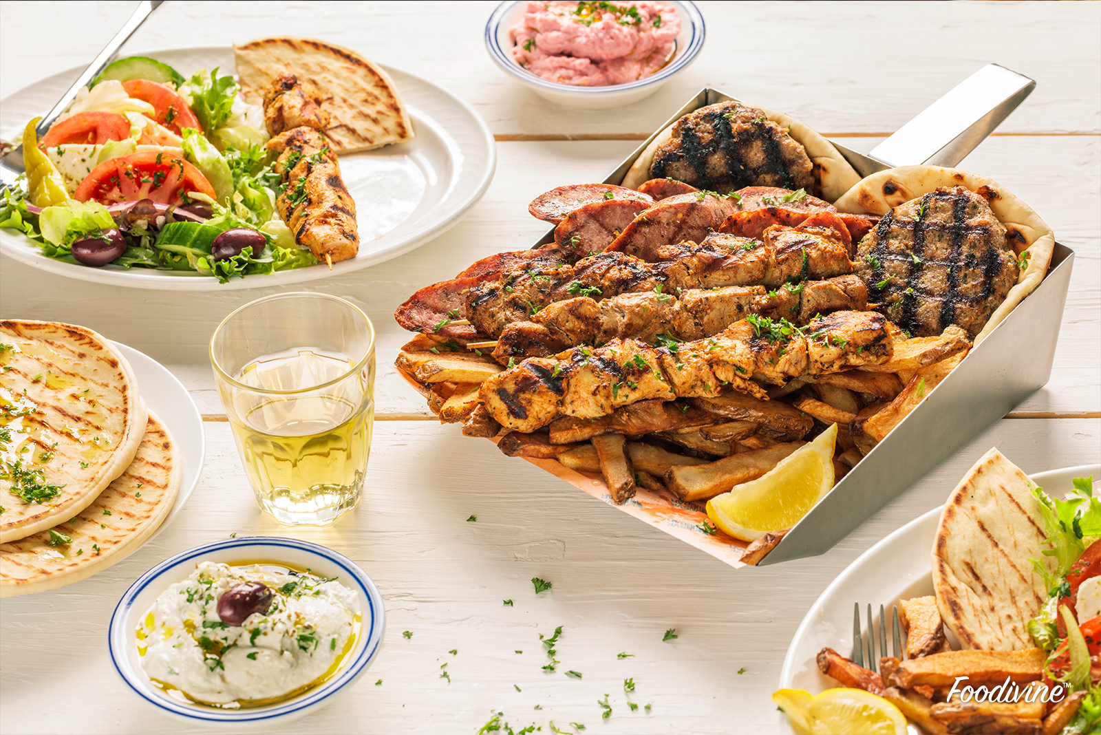 Mixed Grill Plate for two Greek