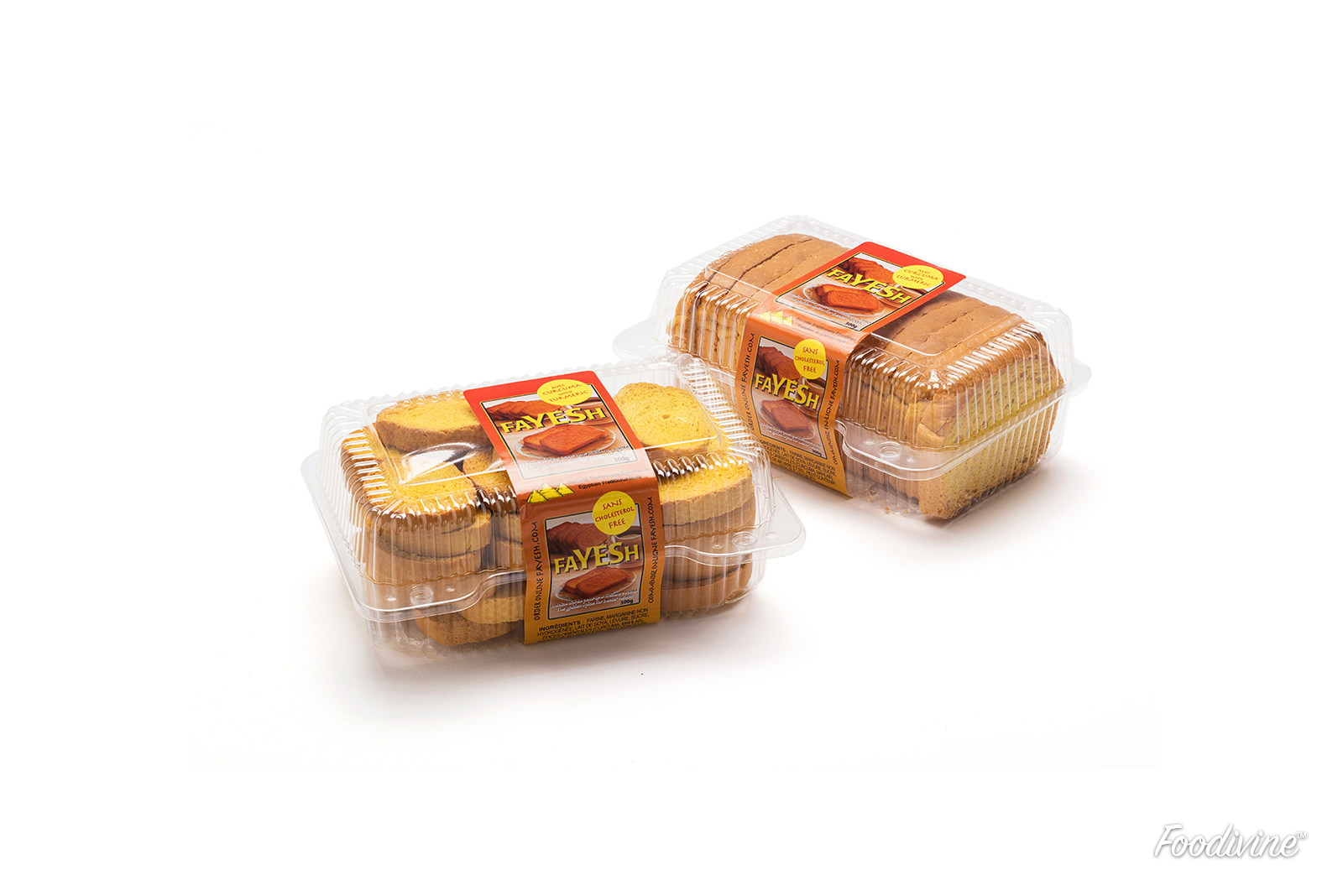 Bread and Toast Product Photo on White