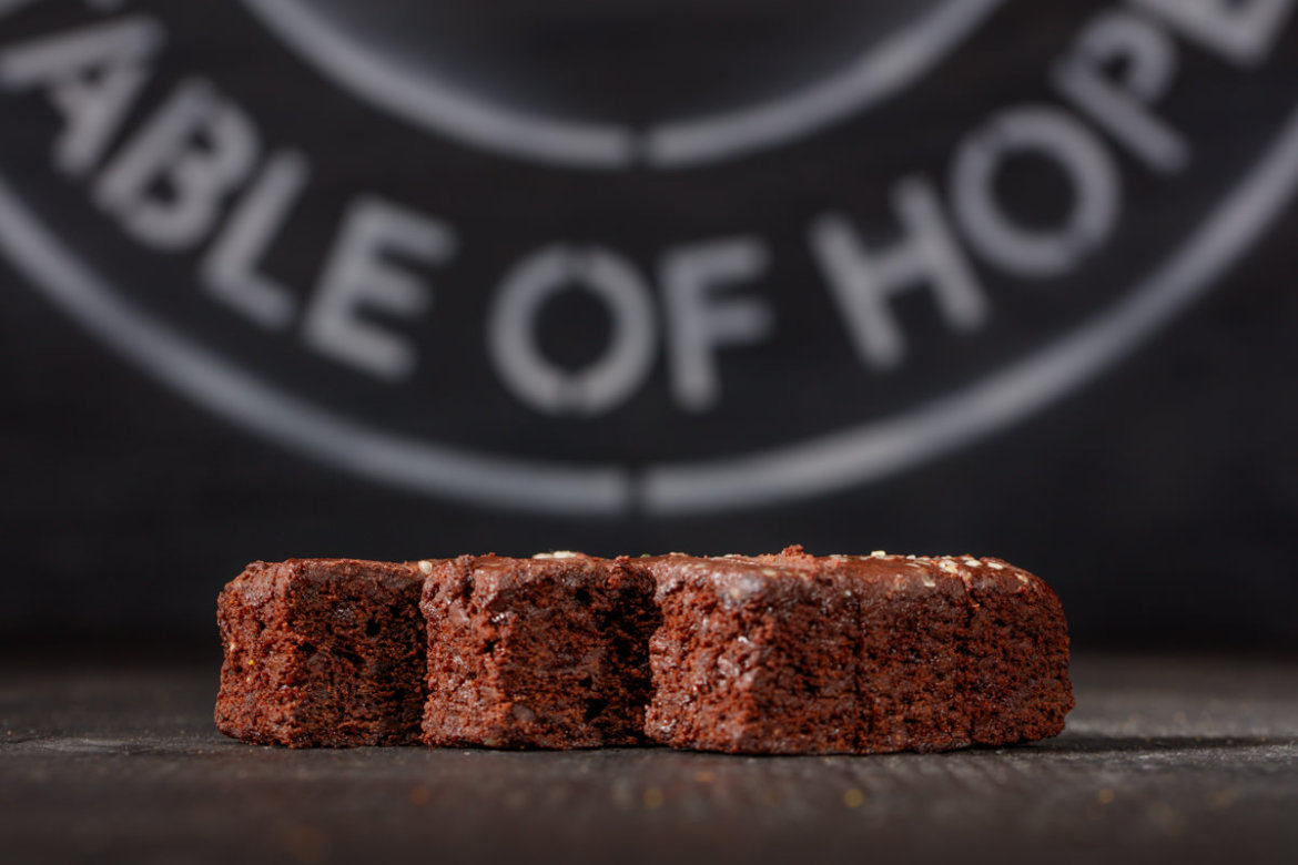 Delicious vegan brownies photo by Montreal Food Photographer