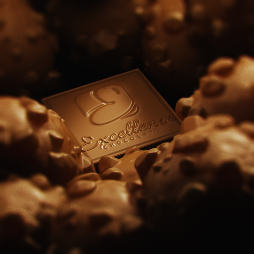 Chocolate 3D rendering